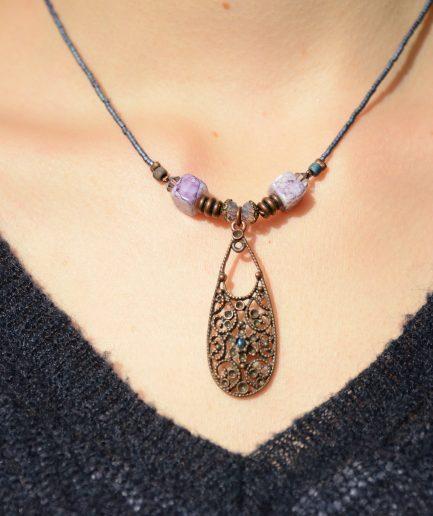 Collier-boucles-oreilles-perles-verre-bijoux