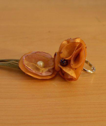 Duo-bague-barette-froufrou-orange-idee-cadeau-bijoux-mere-fille