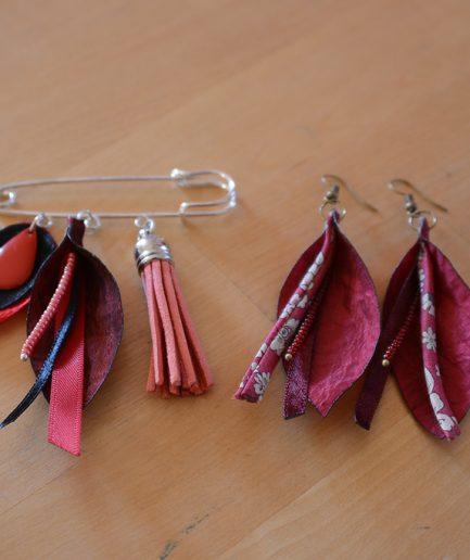 Duo-epingle-boucle-oreille-mauve-idee-cadeau-bijoux-mere-fille