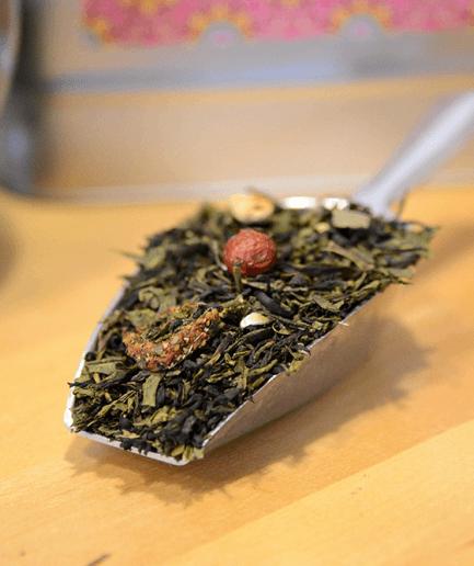 thé-vert-bio-instant-magique-vrac-fraise-orchidee-rose