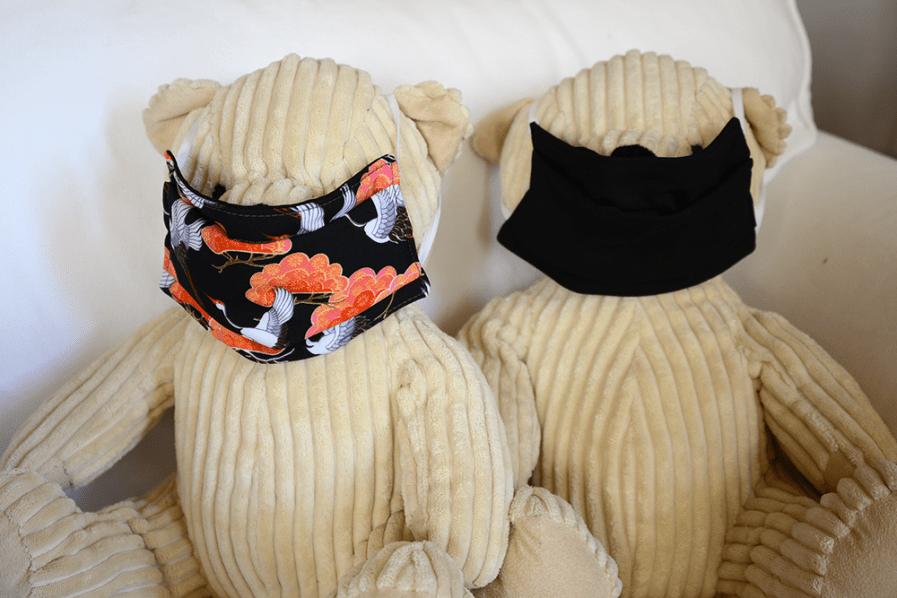 Duo Masque de protection tissu fait-main Adulte Oiseaux de paradis