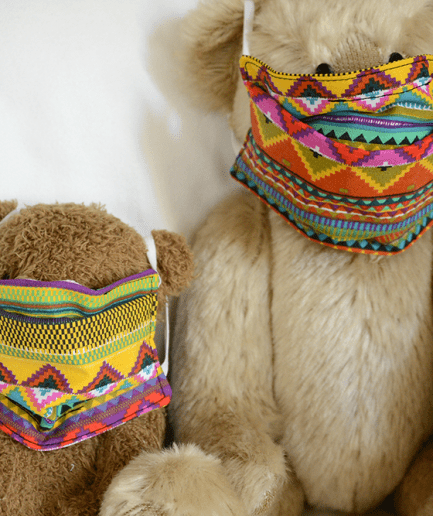 Duo Masque de protection tissu fait-main adulte-etnik
