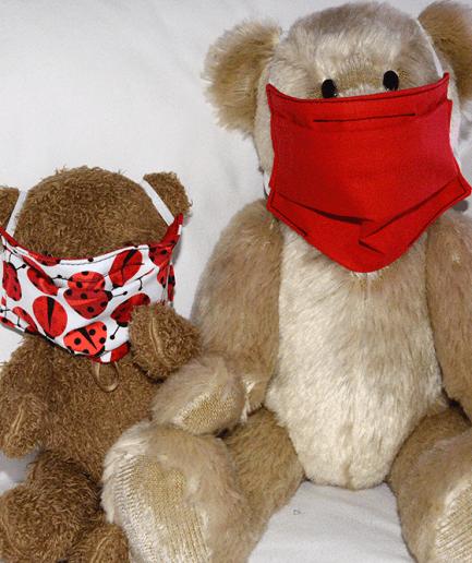 Duo Masque de protection tissu fait-main Parent:Enfant-coccinelle2